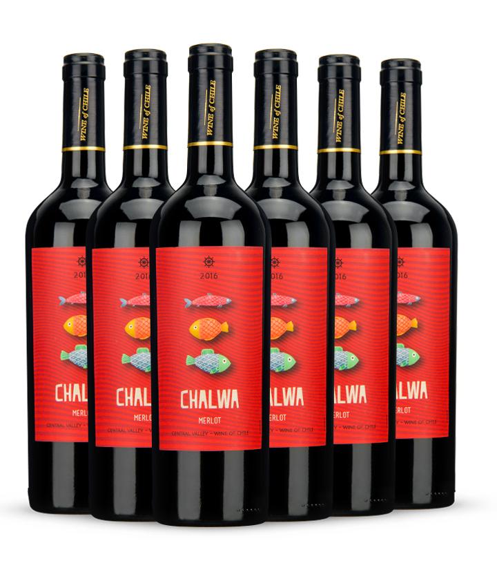 13°智利有鱼梅洛干红葡萄酒750ml 瓶