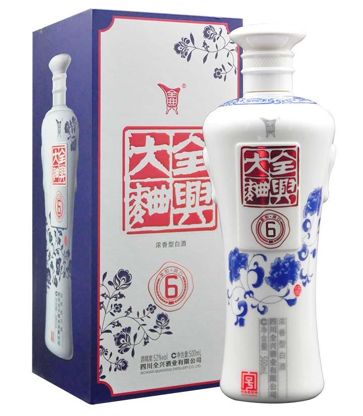 52°全兴大曲青花6- 500ml 瓶