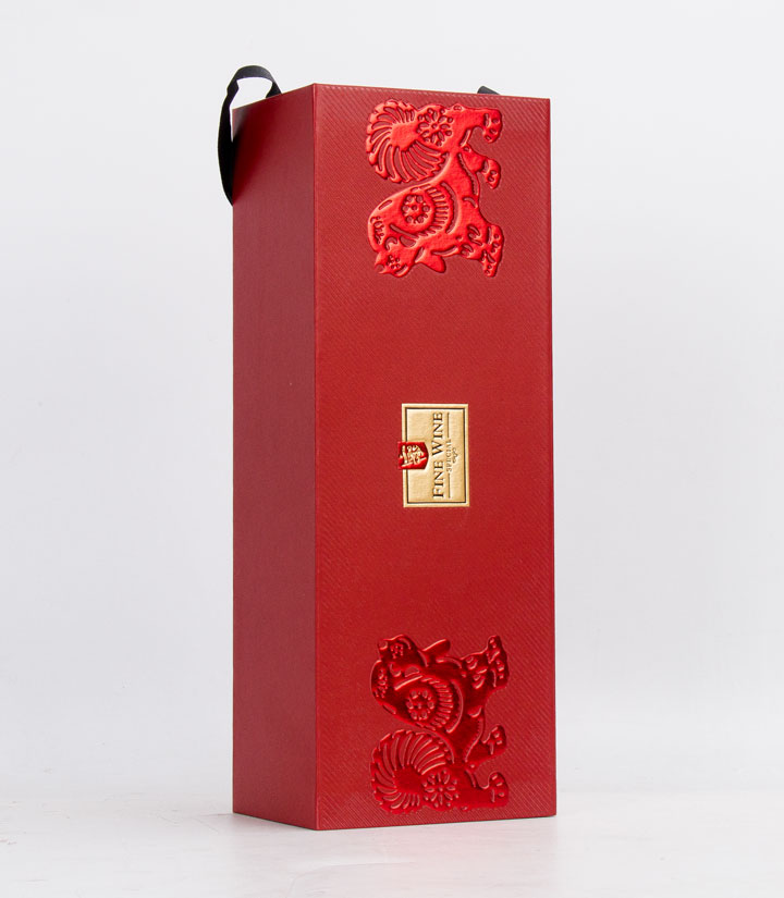 单支红酒卡盒(红色狗)