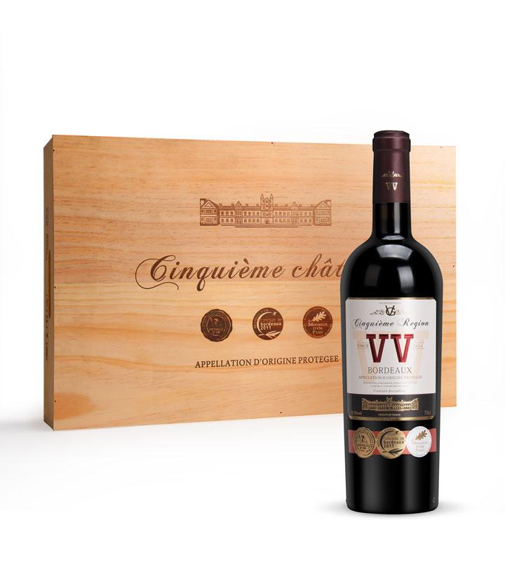 12.5°法国第五庄园精酿干红葡萄酒750ml 瓶