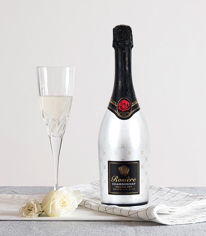 11°法国玫瑰霞多丽中白起泡葡萄酒750ml 件