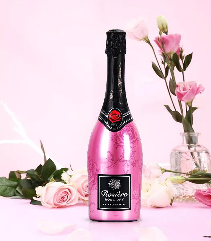 11.5°法国玫瑰桃红起泡葡萄酒750ml 瓶
